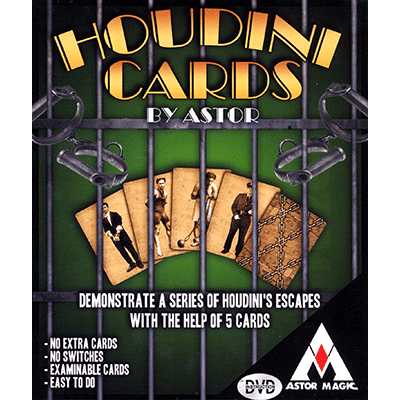 Houdini Cards (DVD included) by Astor Magic